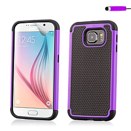 Dual Layer Shockproof Case For Samsung Galaxy S6 - Purple Mobile phones