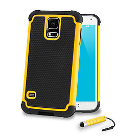 Dual Layer Shockproof Case For Samsung Galaxy S6 - Yellow Mobile phones