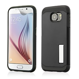 Dual Layer Slim Armour Shockproof Case For Samsung Galaxy S6 - Black Mobile phones