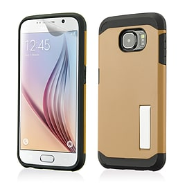 Dual Layer Slim Armour Shockproof Case For Samsung Galaxy S6 - Gold Mobile phones
