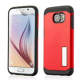 Dual Layer Slim Armour Shockproof Case For Samsung Galaxy S6 - Red Mobile phones