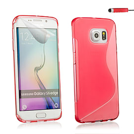 Ultra Slim S-Line Silicone Gel Case For Samsung Galaxy S6 Edge - Red Mobile phones