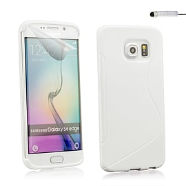 Ultra Slim S-Line Silicone Gel Case For Samsung Galaxy S6 Edge - White Mobile phones