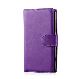 Book PU Leather Wallet Case For Samsung Galaxy S6 Edge - Purple Mobile phones
