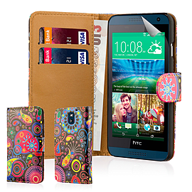 Design Book PU Leather Wallet Case For HTC Desire 610 - Jellyfish Mobile phones