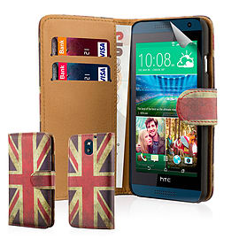 Design Book PU Leather Wallet Case For HTC Desire 610 - Union Jack Mobile phones