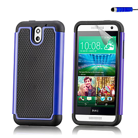 Dual Layer Shockproof Case For HTC Desire 610 - Deep Blue Mobile phones