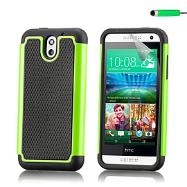 Dual Layer Shockproof Case For HTC Desire 610 - Green Mobile phones