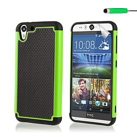 Dual Layer Shockproof Case For HTC Desire EYE - Green Mobile phones