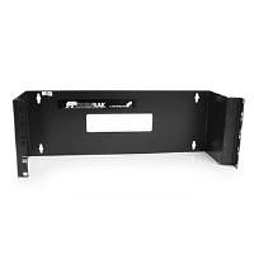 StarTech 4U 19 inch Hinged Wall Mounting Bracket for Patch Panels (Black) PC