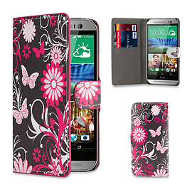 Design Book PU Leather Wallet Case for HTC One M9 - Gerbera Mobile phones