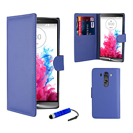 Book PU Leather Wallet Case For LG G4 - Deep Blue Mobile phones