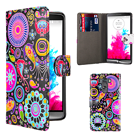 Design Book PU Leather Wallet Case For LG G4 - Jellyfish Mobile phones
