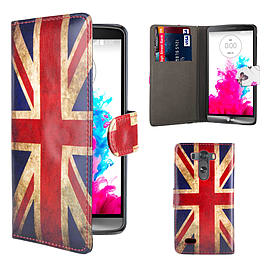 Design Book PU Leather Wallet Case For LG G4 - Union Jack Mobile phones