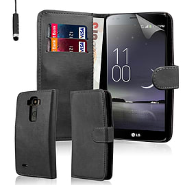 Book PU Leather Wallet Case For LG G Flex 2 - Black Mobile phones