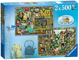 Nostalgic Treasures, 2x500pc Traditional Games