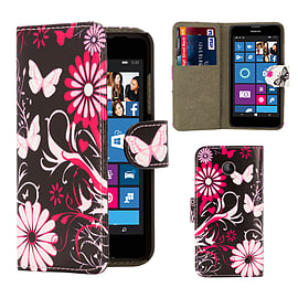 Design Book PU Leather Wallet Case For Microsoft Lumia 430 - Gerbera Mobile phones