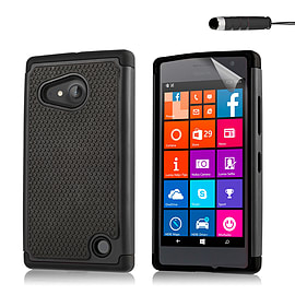 Dual Layer Shockproof Case For Microsoft Lumia 430 - Black Mobile phones