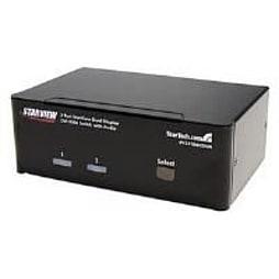StarTech 2 Port Dual DVI USB KVM Switch with Audio and USB 2.0 Hub PC