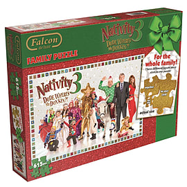 Nativity 3 Dude Wheres My Donkey Family Jigsaw Puzzle (615 Pieces) Traditional Games