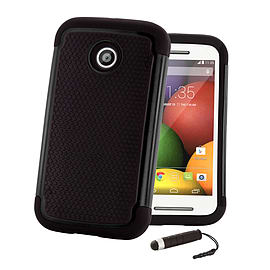 Dual Layer Shockproof Case For Motorola Moto E 2 (2nd Gen) - Black Mobile phones