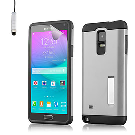 Ultra Slim Armour Shock Proof Case For Samsung Galaxy Note 4 - Silver Mobile phones