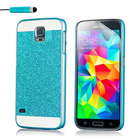 Ultra Slim Glitter Case For Samsung Galaxy S5 - Blue Mobile phones