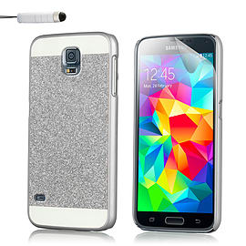 Ultra Slim Glitter Case For Samsung Galaxy S5 - Silver Mobile phones