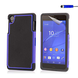 Dual Layer Shockproof Case For Sony Xperia E4 - Deep Blue Mobile phones