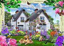Country Cottage Collection - Delphinium Cottage 1000 Piece screen shot 1