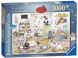 Crazy Cats - In the Playroom 1000 Piece Traditional Games