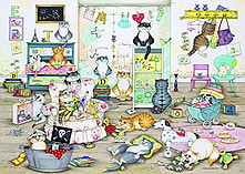 Crazy Cats - In the Playroom 1000 Piece screen shot 1