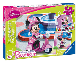 Minnie Mouse 3 x 49pc Traditional Games