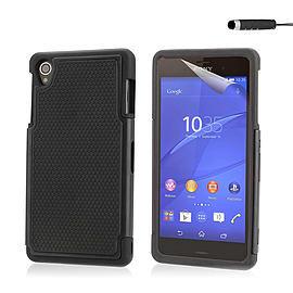 Dual Layer Shockproof Case For Sony Xperia M4 - Black Mobile phones