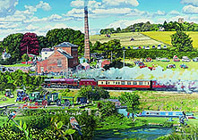 Day in the Country - The Steam Mill 1000 Piece screen shot 1