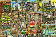 Colin Thompson - Bizarre Town 5000 Piece screen shot 1