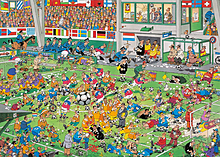 Jan Van Haasteren - 3-in-1 Football Jigsaw Puzzles screen shot 2