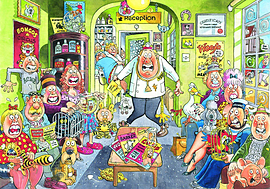 Wasgij 18 Uproar at the Vets 1000 Piece Jigsaw Puzzle Traditional Games
