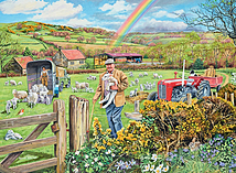 Happy Days at Work - The Farmer, 500pc screen shot 1
