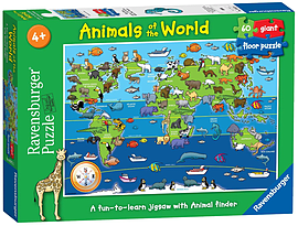 Animals of the World, 60pc Floor puzzle Traditional Games
