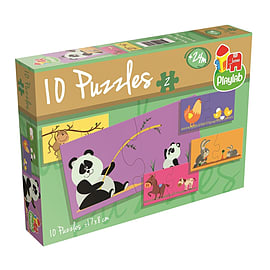 Playlab 10 Jigsaw Puzzles in-a-Box (2 Pieces) Traditional Games