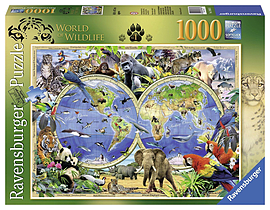 Howard Robinson, World of Wildlife, 1000pc Traditional Games