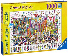 Ravensburger Puzzle - James Rizzi : Times Square (1000pcs) (19069) Traditional Games
