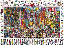 Ravensburger Puzzle - James Rizzi : Times Square (1000pcs) (19069) screen shot 1