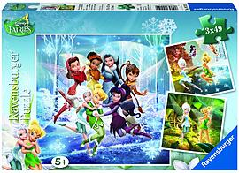 Ravensburger Puzzle - Disney Fairies (3x49pcs.) (09219) Traditional Games