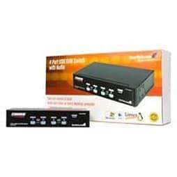 Startech Usb Kvm Switch With Audio - Kvm / Audio / Usb Switch - Usb - 4 Ports - 1 Local User - 1u PC