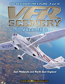 X Plane 9 VFR Scenery vol 4 (NE England and East Midlands) PC