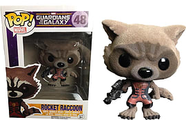 Marvel's Guardians Of The Galaxy - Flocked Rocket Raccoon Pop! Vinyl in Ravager Outfit [Exclusive] Figurines and Sets