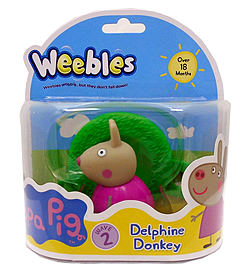 Peppa Pig Weebles Delphine Donkey Pre School Toys