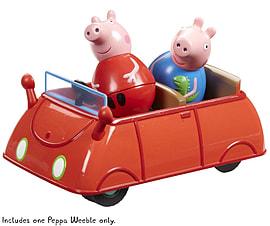 Peppa Pig Weebles Push Along Wobbily Car Pre School Toys
